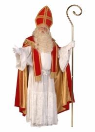Sint mantel fluweel met cape midden rood