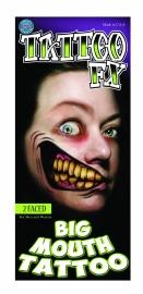 Big Mouth tattoo 2 Faces