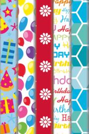 Inpakpapier Happy Birthday 70x200cm