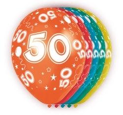 Ballonnen 5st. 50 jaar HE 30cm