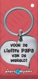 Hart sleutelhanger - papa