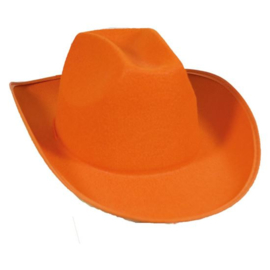 Cowboyhoed Dallas vilt oranje