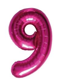 Folieballon 86cm Magenta 9
