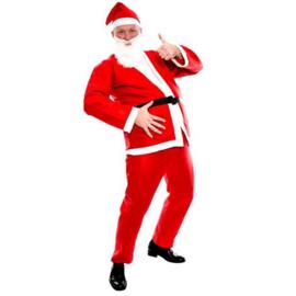 Kerstman basic volwassen (5-delig)