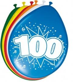 Ballonnen 8st. cijfer 100