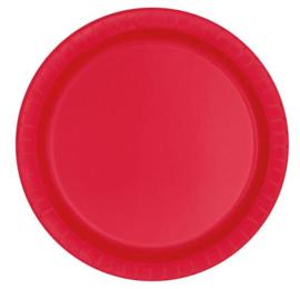 Borden 22 cm rood 8st.