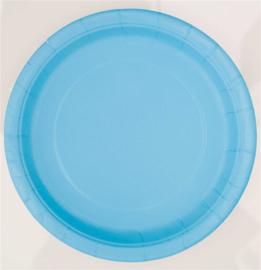 Borden 17 cm lichtblauw 8st.
