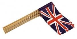 Vlaggetje op stok papier U.K. Engeland