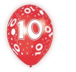 Ballonnen 5st. 10 jaar HE 30cm