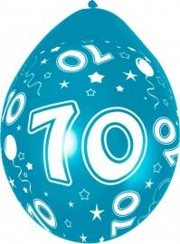 Ballonnen 5st. 70 jaar HE 30cm