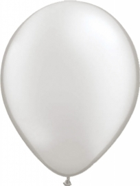 Ballonnen 100st. Zilver metallic