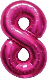Folieballon 34 inch Magenta 8