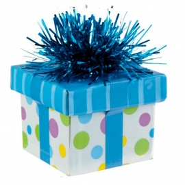 Ballon gewicht gift box blue