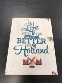 Houten deco Holland - Life with you