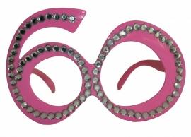 Bril 60 Jaar Roze Diamantframe