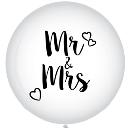 Ballon XL Mr & Mrs