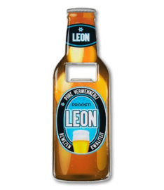 Magneet fles opener - Leon
