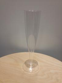 Champagne glas plastic 100cc p/s