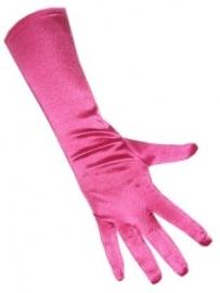 Gala handschoenen hard roze