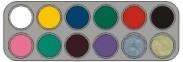 Grimas waterpalet A12 kleuren
