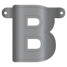 Banner Letter B Metallic Silver