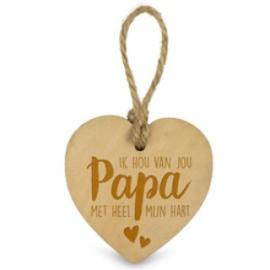 Houten hartje - Papa