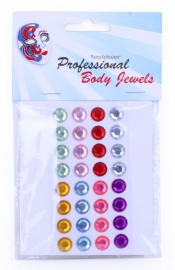 Body jewels 32 rondje 10 mm ass kleuren