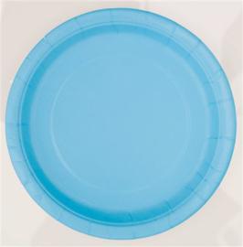 Borden 22 cm lichtblauw 8st.