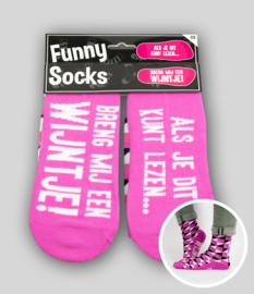 Funny socks - Breng mij een wijntje