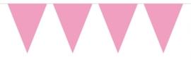 Vlaggenlijn Effen Baby Roze /10mtr