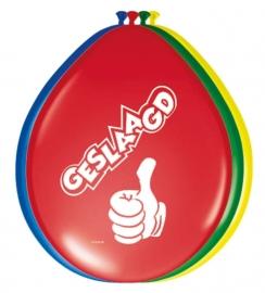 Ballonnen 8st. geslaagd dikke duim