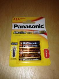 Batterijen panasonic AAA 4st.