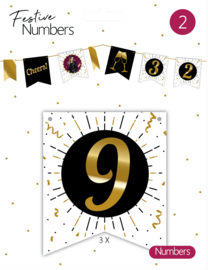 Festive Numbers 9 / 3st.