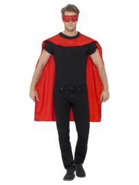 Cape superheld met masker rood