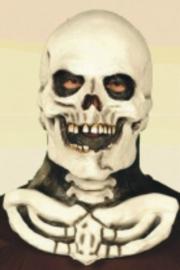 Masker rubber doodskop met hals