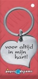Hart sleutelhanger - in mijn hart