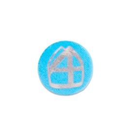 Button met mijter lichtblauw