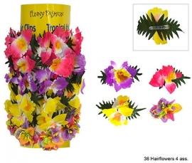 Bloemen haarclips p/st.