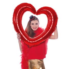 Selfie Frame hart rood 80x75 cm