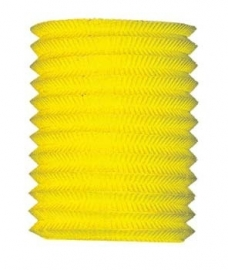 Lampion 16cm geel