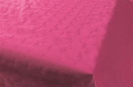 Tafelkleed damast donkerroze 8m x 118cm