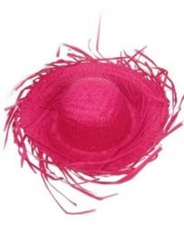 Strohoed rafel pink