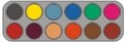 Grimas waterpalet B12 kleuren