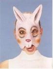 Masker rubber half konijn