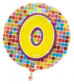 Folieballon Bday Blocks 0 Verpakt