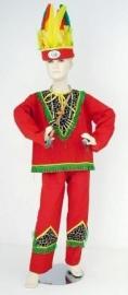 Indiaan kostuum (143) rood/tijger mt. 164