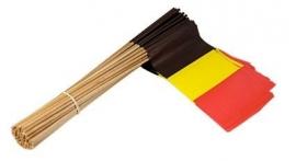 Vlaggetje op stok papier België