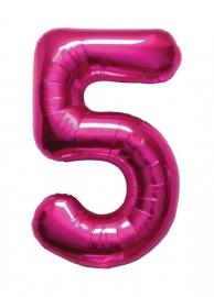 Folieballon 34 inch Magenta 5