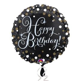Folieballon Happy Birthday sparkling celeb. silver