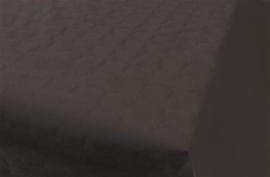 Tafelkleed damast zwart 8m x 118cm
